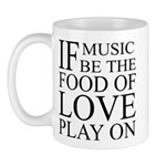 Music-Food-Love Quote Mug
