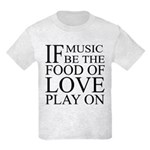 Music-Food-Love Quote Kids T-Shirt