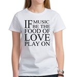 Music-Food-Love Quote Women's T-Shirt