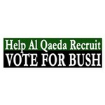 Help Al Qaeda: Vote for Bush (sticker)