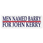 Men Named Barry for John Kerry (sticker)