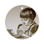 Child Saying Grace Ornament