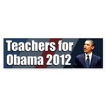 Teachers for Barack Obama Bumpersticker