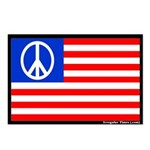 8 Peace Flag Patriotic Postcards