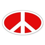 Peace Sign (Oval Bumpersticker)