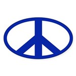 Peace Sign (oval bumper sticker)