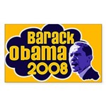 Groovy Obama 2008 Sticker (Rectangular)