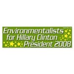 Environmentalists for Hillary Clinton Bumper Sticker