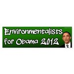 Environmentalists for Obama Bumper Sticker