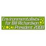 Environmentalists for Richardson Sticker