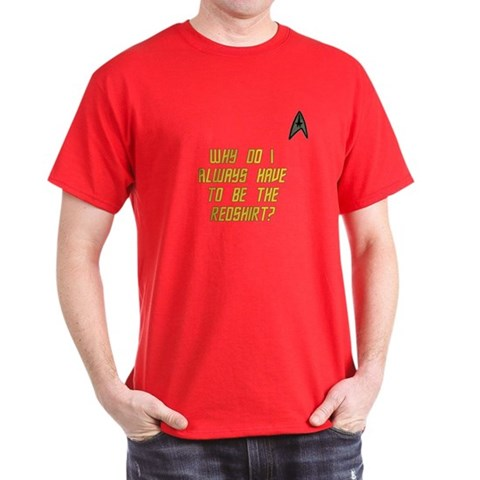 Star Trek Red Shirt Funny Dark T-Shirt