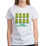 Tourette's Syndrome Ribbon Ducks Women's T-Shirt