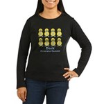 Prostate Cancer Ribbon Ducks Women's Long Sleeve D