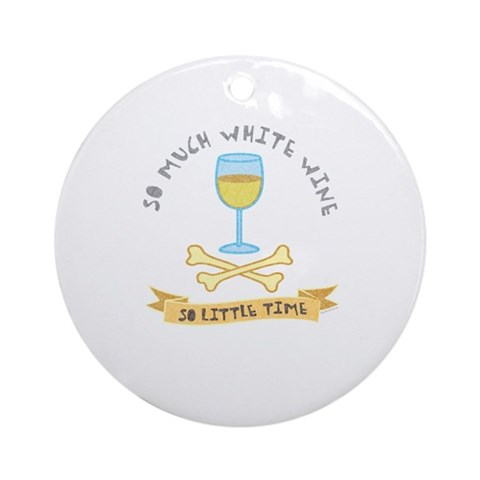 White wine tasting Ornament Round Hobbies Round Ornament by CafePress