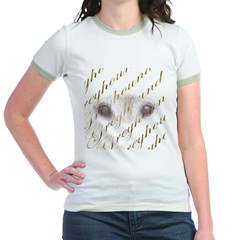 GREYHOUND IN GOLD JUNIOR RINGER TEE