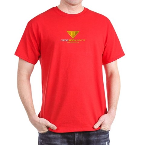 : Red/Yellow Peace Dark T-Shirt by CafePress
