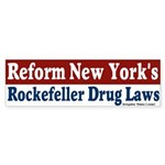 Rockefeller Drug Laws Bumper Sticker