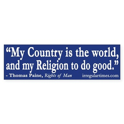 My Country is the World (Thomas Paine)