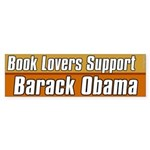 Book Lovers Support Barack Obama sticker