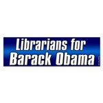 Librarians for Obama bumper sticker