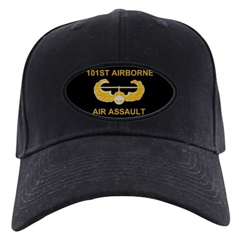 101st Airborne Division Military Black Cap by CafePress