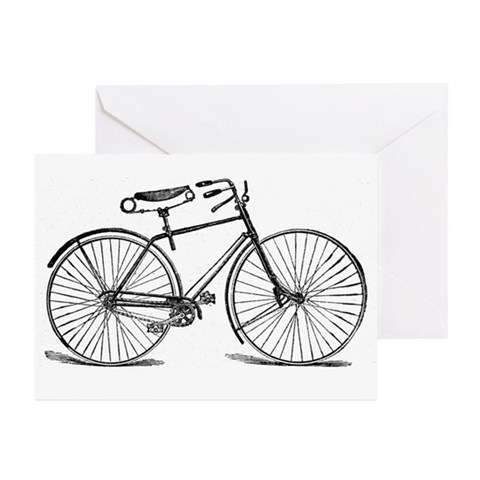 VINTAGE BICYCLE Greeting Cards 6 Sports Greeting Cards Pk of 10 by CafePress
