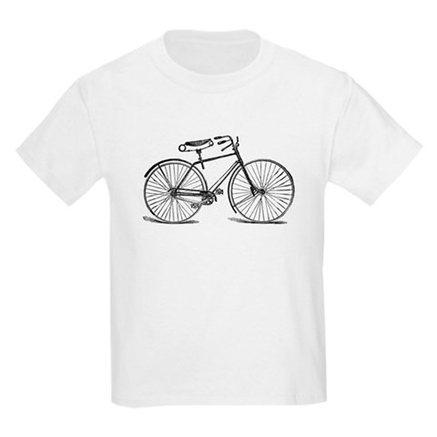 VINTAGE BICYCLE Kids T-Shirt Sports Kids Light T-Shirt by CafePress