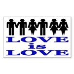 Love is Love (bumper sticker)