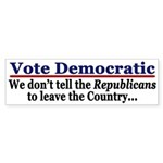 Vote Democratic (bumper sticker)