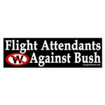 Flight Attendants Against Bush (sticker)