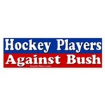 Hockey Players Against Bush (auto sticker)