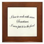 Cooking With Wine Plaque