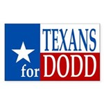 Texans for Dodd (bumper sticker)