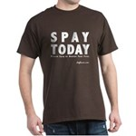 B&W Spay Spay & Neuter Dark T-Shirt