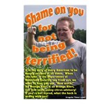 Eight Shame on You Terrified Postcards