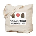 First Love Chocolate Tote Bag