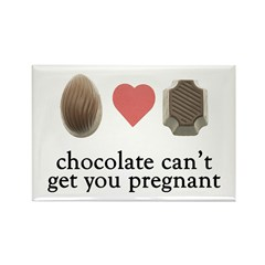 Pregnant Chocolate Magnet