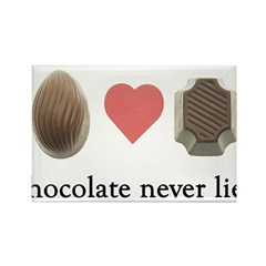 Chocolate Never Lies Magnet