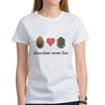 Chocolate Never Lies Women's T-Shirt