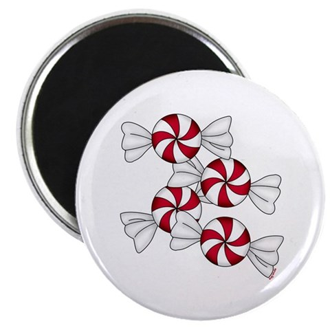 Peppermint Candy Christmas Magnet by CafePress