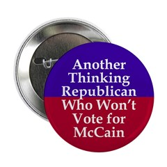 Republicans Against McCain Button