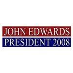 Edwards: President 2008 bumper sticker