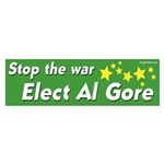 Stop the war elect Al Gore sticker