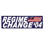 Regime Change '04 (bumper sticker)