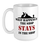 What Happens In The Shop Large Mug