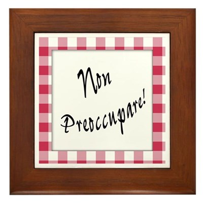 Non Preoccupare Kitchen Sign