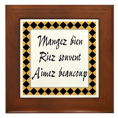 Mangez Riez Aimez Kitchen Sign