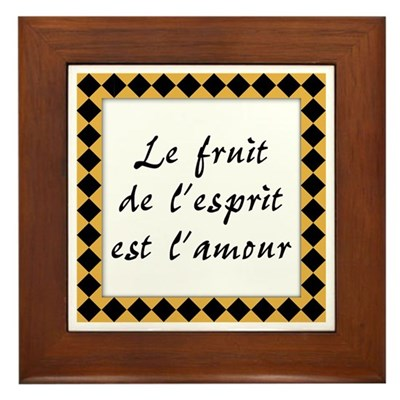 Fruit Esprit Amour Kitchen Sign