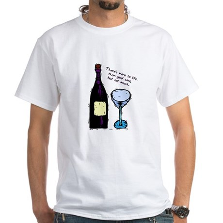 Wine Lover's White T-Shirt