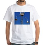 Solar powered lamp post White T-Shirt